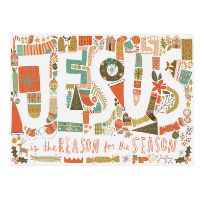 Pack of 6 (with env) - Jesus is the Reason