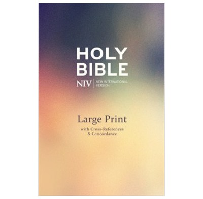 NIV Large Print Single Column Deluxe Reference Bible | The