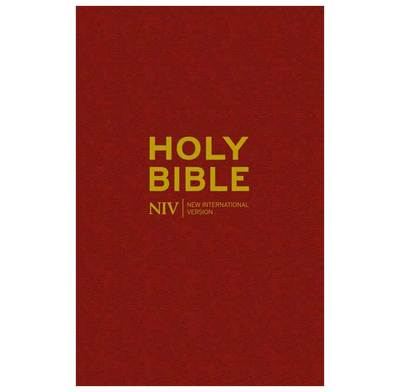 NIV Burgundy Hardback Bible (Larger Print)
