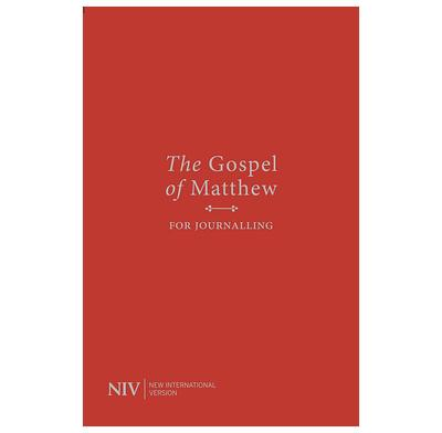 NIV Gospel of Matthew for Journalling (Red)
