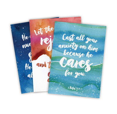 Scripture Postcards: Cast All Your Cares