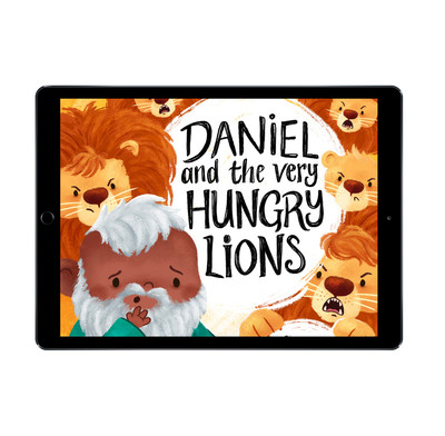 Download the full-size illustrations - Daniel and the Very Hungry Lions