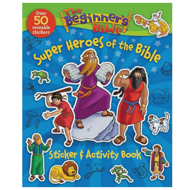 The Beginner's Bible Super Heroes Sticker and Activity Book